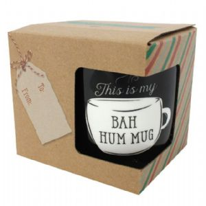 This Is My Bah Hum Mug - Christmas Black Gift Boxed Mug
